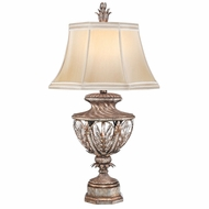 Fine Art Handcrafted Lighting 301810 Winter Palace Silver Side Table Lamp