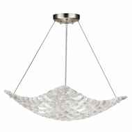 Fine Art Handcrafted Lighting 841040 Constructivism Silver LED Pendant Light