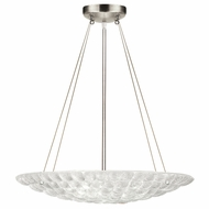 Fine Art Handcrafted Lighting 843040 Constructivism Contemporary Silver LED Pendant Light Fixture