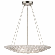 Fine Art Handcrafted Lighting 843240 Constructivism Modern Silver LED Pendant Lighting Fixture