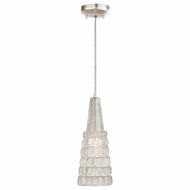 Fine Art Handcrafted Lighting 845040 Constructivism Silver LED Mini Hanging Pendant Lighting