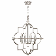 Fine Art Handcrafted Lighting 860040-2 Liaison Silver LED Hanging Pendant Lighting