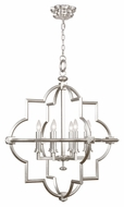 Fine Art 860040-2 Liaison Platinized Silver Leaf 30 Inch Wide Chandelier Lighting Fixture