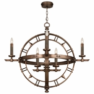 Fine Art Handcrafted Lighting 860140 Liaison Bronze LED Hanging Pendant Light