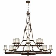 Fine Art Handcrafted Lighting 860540 Liaison Traditional Bronze LED Ceiling Chandelier