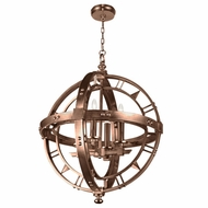 Fine Art Handcrafted Lighting 861240 Liaison Contemporary Bronze LED Hanging Light Fixture