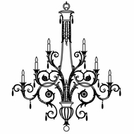 Fine Art Lamps 136740-2 A Midsummer Night's Dream Extra Large 16-light Crystal Candle Chandelier, No Shades