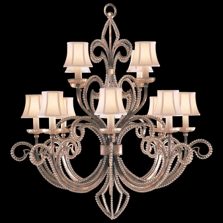 Fine Art Lamps 137140 A Midsummer Night's Dream 12-lamp Crystal-lined  Chandelier with Shades