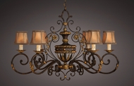 Fine Art Lamps 218540 Castile Wrought Iron and Gold Old World Oblong Chandelier