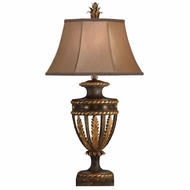 Fine Art Lamps 229710 Castile Traditional Antiqued Iron and Gold Leaf Lighting Table Lamp