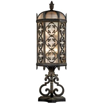 Fine Art Handcrafted Lighting 324980 Costa del Sol Traditional Wrought Iron Exterior Pier Mount