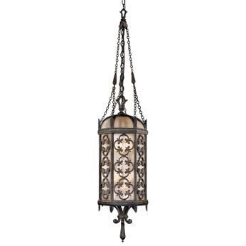 Fine Art Handcrafted Lighting 325282 Costa del Sol Traditional Wrought Iron Outdoor Hanging Pendant Light