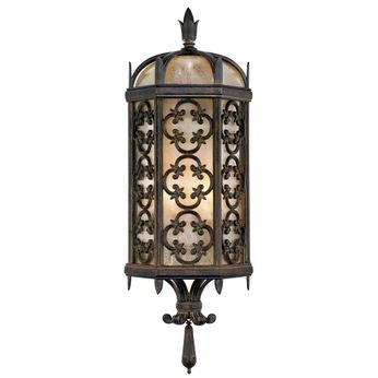 Fine Art Handcrafted Lighting 329681 Costa del Sol Traditional Wrought Iron Exterior Wall Sconce Light