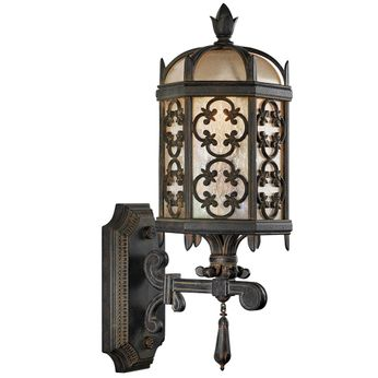 Fine Art Handcrafted Lighting 329881 Costa del Sol Traditional Wrought Iron Outdoor Wall Sconce