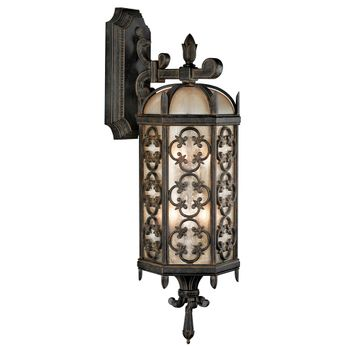 Fine Art Handcrafted Lighting 338281 Costa del Sol Traditional Wrought Iron Exterior Wall Lamp