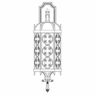 Fine Art Lamps 338381 Costa Del Sol 33 inch outdoor wall sconce in Marbella wrought iron