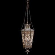 Fine Art Lamps 402582 Chateau 49 inch outdoor hanging lantern in solid brass