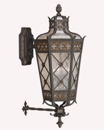Fine Art Handcrafted Lighting 403681 Chateau 37 inch outdoor wall sconce in solid brass
