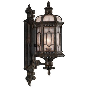 Fine Art Lamps 413781-1 Devonshire Traditional Antiqued Bronze Exterior Wall Light Sconce