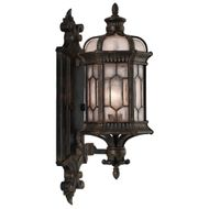 Fine Art Handcrafted Lighting 413781-1 Devonshire Traditional Antiqued Bronze Exterior Wall Light Sconce