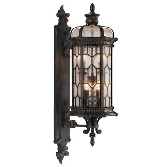 Fine Art Lamps 413881-1 Devonshire Traditional Antiqued Bronze Outdoor Wall Sconce Light