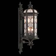 Fine Art Handcrafted Lighting 413981 Devonshire 39 inch outdoor wall mount sconce in Antiqued Bronze