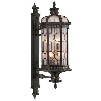 Fine Art Handcrafted Lighting 414081-1 Devonshire Traditional Antiqued Bronze Outdoor Wall Lamp