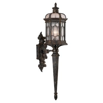 Fine Art Handcrafted Lighting 414681-1 Devonshire Traditional Antiqued Bronze Exterior Wall Lighting