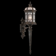Fine Art Handcrafted Lighting 414681 Devonshire 33 inch outdoor wall sconce in Marbella wrought iron