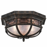 Fine Art Lamps 414882-1 Devonshire Traditional Antiqued Bronze Outdoor Flush Mount Light Fixture