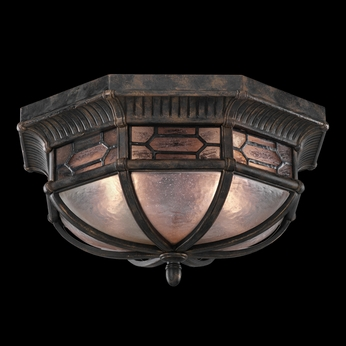Fine Art Handcrafted Lighting 414882 Devonshire 9 inch outdoor flush mount in Marbella wrought iron