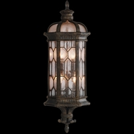 Fine Art Handcrafted Lighting 414981 Devonshire 29 inch outdoor coupe wall sconce in Marbella wrought iron