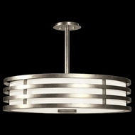 Fine Art Lamps 445840-2 Portobello Road Silver Drum Ceiling Light Pendant