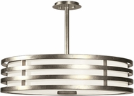 Fine Art Lamps 445840-2ST Portobello Road Contemporary Silver Drum Pendant Lighting Fixture