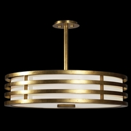 Fine Art Lamps 445840 Portobello Road Gold Drum Drop Ceiling Lighting