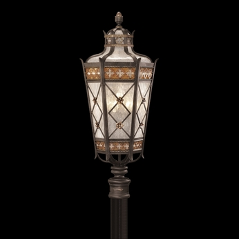 Fine Art Handcrafted Lighting 541680 Chateau 32 inch outdoor post light in solid brass