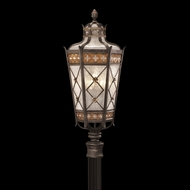 Fine Art Lamps 541680 Chateau 32 inch outdoor post light in solid brass