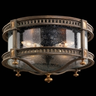 Fine Art Lamps 564982 Beekman Place 11 inch outdoor flush mount in solid brass