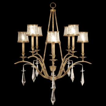 Fine Art Lamps 567540 Monte Carlo Small 8-light Gold Chandelier with Crystal