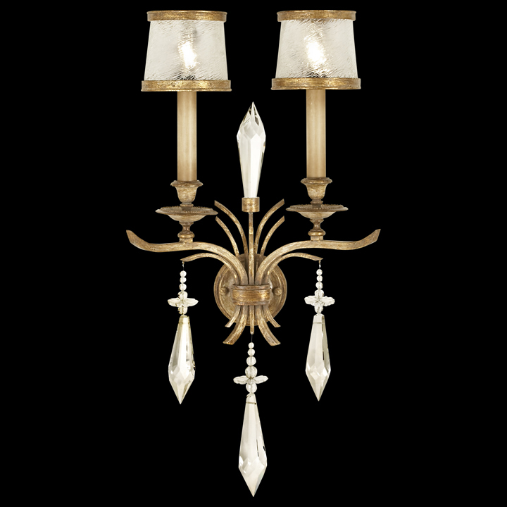 Fine Art Lamps 567950 Monte Carlo 2 Lamp Crystal Wall Sconce Lighting