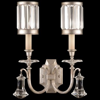 Fine Art Handcrafted Lighting 583050-2 Eaton Place Silver Wall Light Fixture