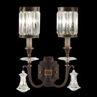 Fine Art Lamps 583050 Eaton Place 2-light Traditional Crystal Sconce Lighting