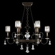 Fine Art Lamps 583840 Eaton Place Black Lighting Chandelier
