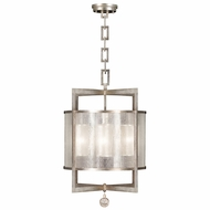Fine Art Handcrafted Lighting 591140-2 Singapore Moderne Silver Hanging Lamp