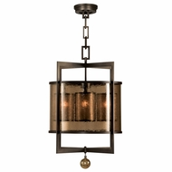 Fine Art Handcrafted Lighting 591140 Singapore Moderne Bronze Pendant Lamp