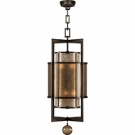 Fine Art Handcrafted Lighting 591240 Singapore Moderne Bronze Hanging Light