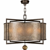 Fine Art Lamps 591540 Singapore Moderne Bronze Drum Pendant Lighting Fixture