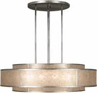 Fine Art Lamps 600140-2 Singapore Moderne Silver Drum Pendant Hanging Light