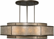 Fine Art Lamps 600140 Singapore Moderne Bronze Drum Hanging Pendant Light