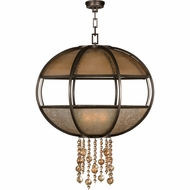 Fine Art Handcrafted Lighting 600340 Singapore Moderne Bronze Hanging Light Fixture
